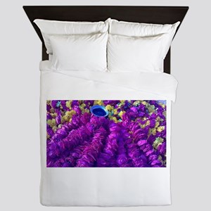 Flowers for the God In the Temple-Bhak Queen Duvet