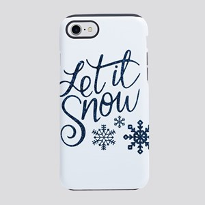 Let it Snow Navy iPhone 7 Tough Case