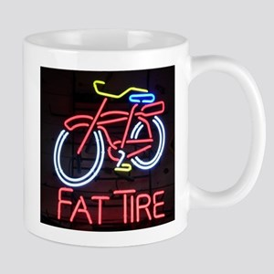 Neon Fat Tire Sign Mugs