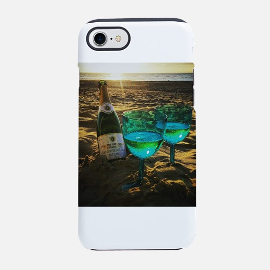Beach with Drinks iPhone 7 Tough Case