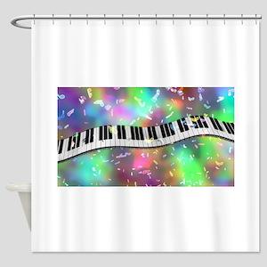 Rainbow Keyboard Shower Curtain