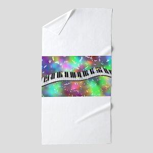 Rainbow Keyboard Beach Towel