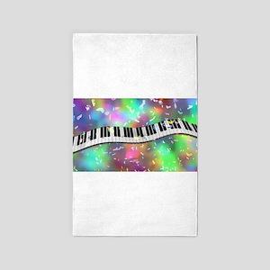 Rainbow Keyboard Area Rug