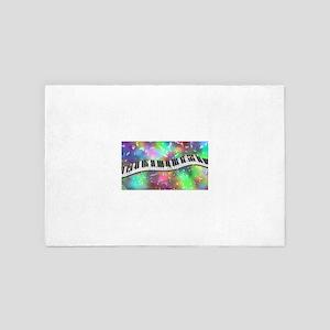 Rainbow Keyboard 4' x 6' Rug
