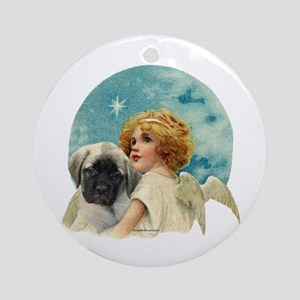 Fawn pup w/Angel Ornament (Round)