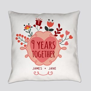Personalized 9th Anniversary Everyday Pillow
