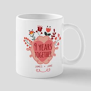 Personalized 9th Anniversary Mug