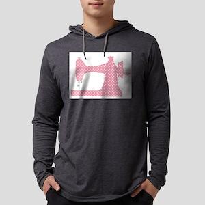 Polka Dot Sewing Machine Long Sleeve T-Shirt