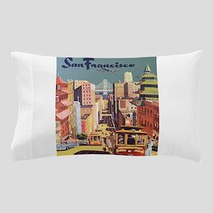 Vintage Travel Poster San Francisco Pillow Case