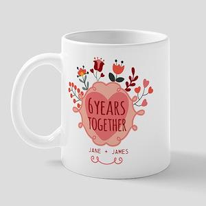 Personalized 6th Anniversary Mug