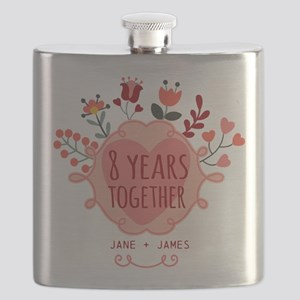 Personalized 8th Anniversary Flask