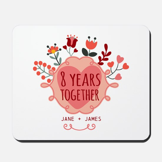 Personalized 8th Anniversary Mousepad