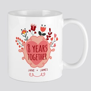 Personalized 8th Anniversary Mug