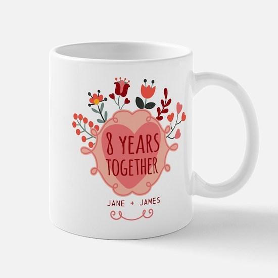 Personalized 8th Anniversary Mug