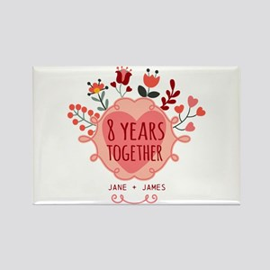 Personalized 8th Anniversary Rectangle Magnet