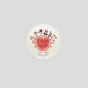 Personalized 8th Anniversary Mini Button