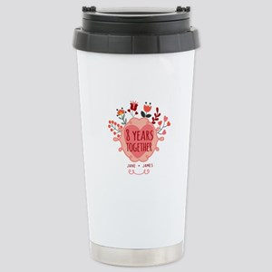 Personalized 8th Annive Stainless Steel Travel Mug