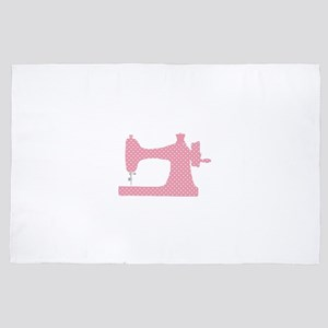 Polka Dot Sewing Machine 4' x 6' Rug