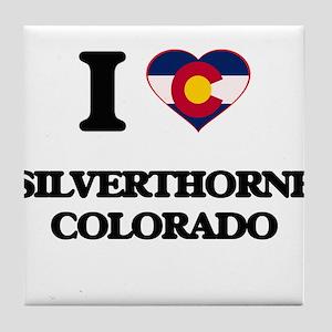 I love Silverthorne Colorado Tile Coaster