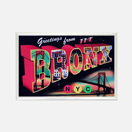 Bronx New York City Rectangle Magnet