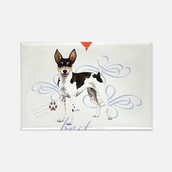 Cute Rat terriers Rectangle Magnet