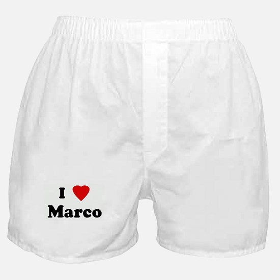I Love Marco Boxer Shorts