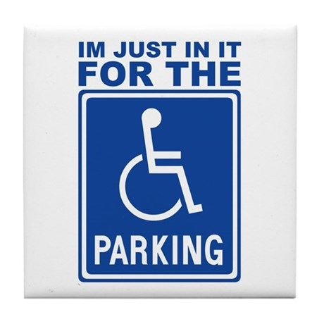 Handicap Parking Tile Coaster