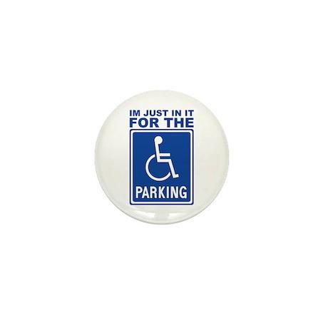 Handicap Parking Mini Button (100 pack)