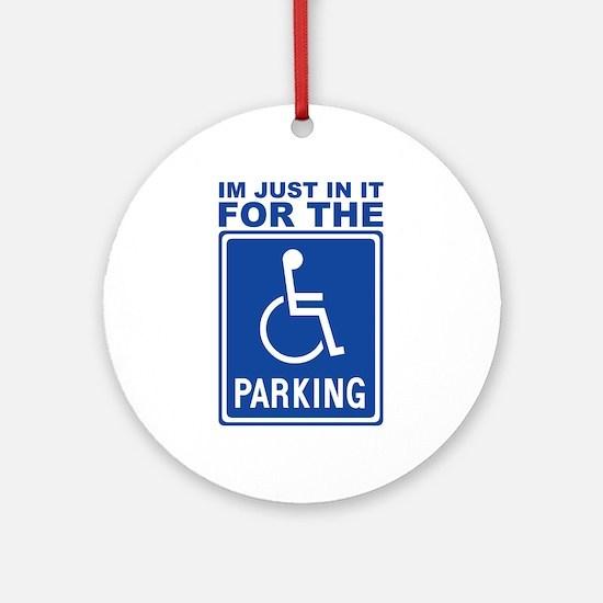 Handicap Parking Ornament (Round)