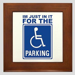 Handicap Parking Framed Tile