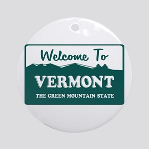 Vermont Ornament (Round)