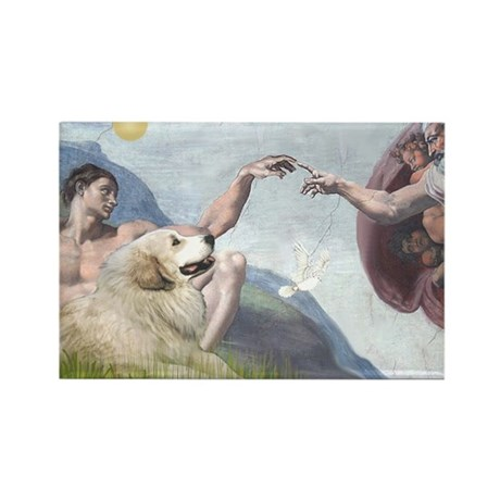 Creation & Great Pyrenees Rectangle Magnet