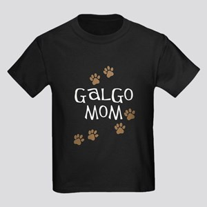 Galgo Mom Kids Dark T-Shirt