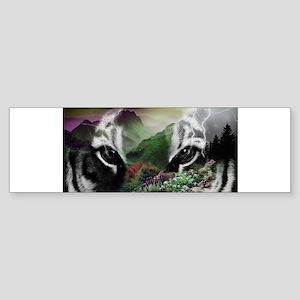 Through the Eyes of a Tiger Bumper Sticker