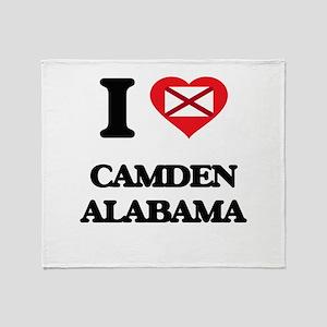 I love Camden Alabama Throw Blanket
