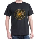 Candy Corn Spiral Dark T-Shirt