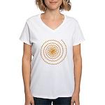 Candy Corn Spiral Women's V-Neck T-Shirt