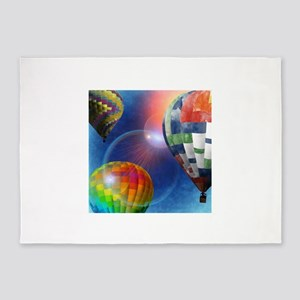Hot Air Balloon Festival 5'x7'Area Rug