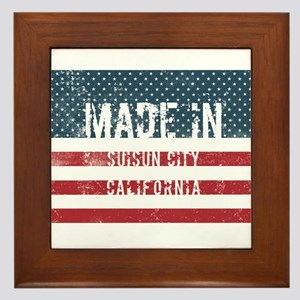 Made in Suisun City, California Framed Tile