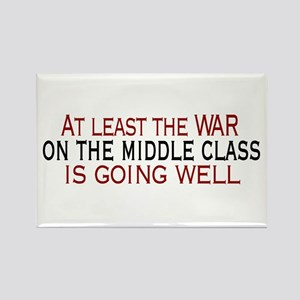 War on Middle Class Rectangle Magnet