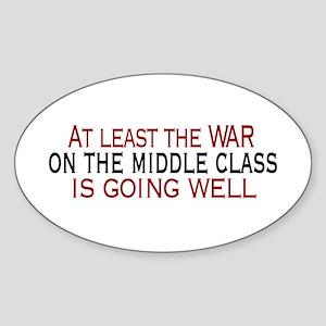 War on Middle Class Oval Sticker