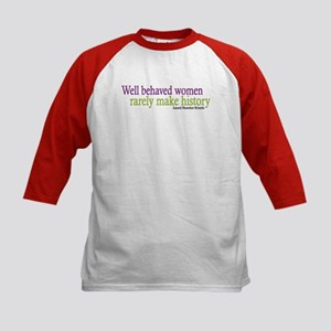 Well Behaved Women Kids Baseball Jersey