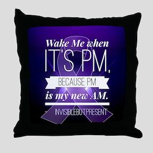 Wake Me When It's PM© Throw Pillow