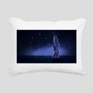 Woman Beneath the Stars Rectangular Canvas Pillow