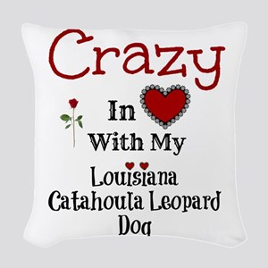Louisiana Catahoula Leopard Dog Woven Throw Pillow