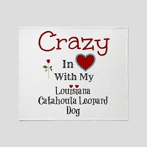 Louisiana Catahoula Leopard Dog Throw Blanket