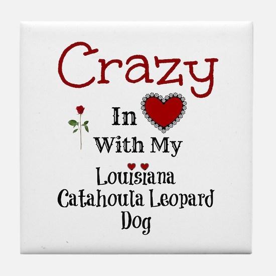Louisiana Catahoula Leopard Dog Tile Coaster