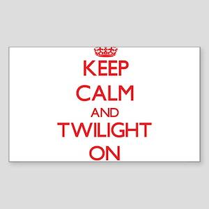 Keep Calm and Twilight ON Sticker