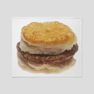 Sausage Biscuit Throw Blanket
