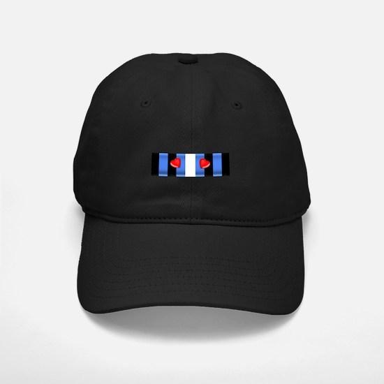 LEATHER PRIDE BAR/2 HEARTS Baseball Hat